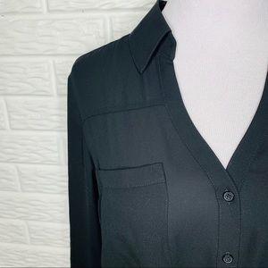 Express Tops - Express NWT Black Slim Fit Portofino Blouse